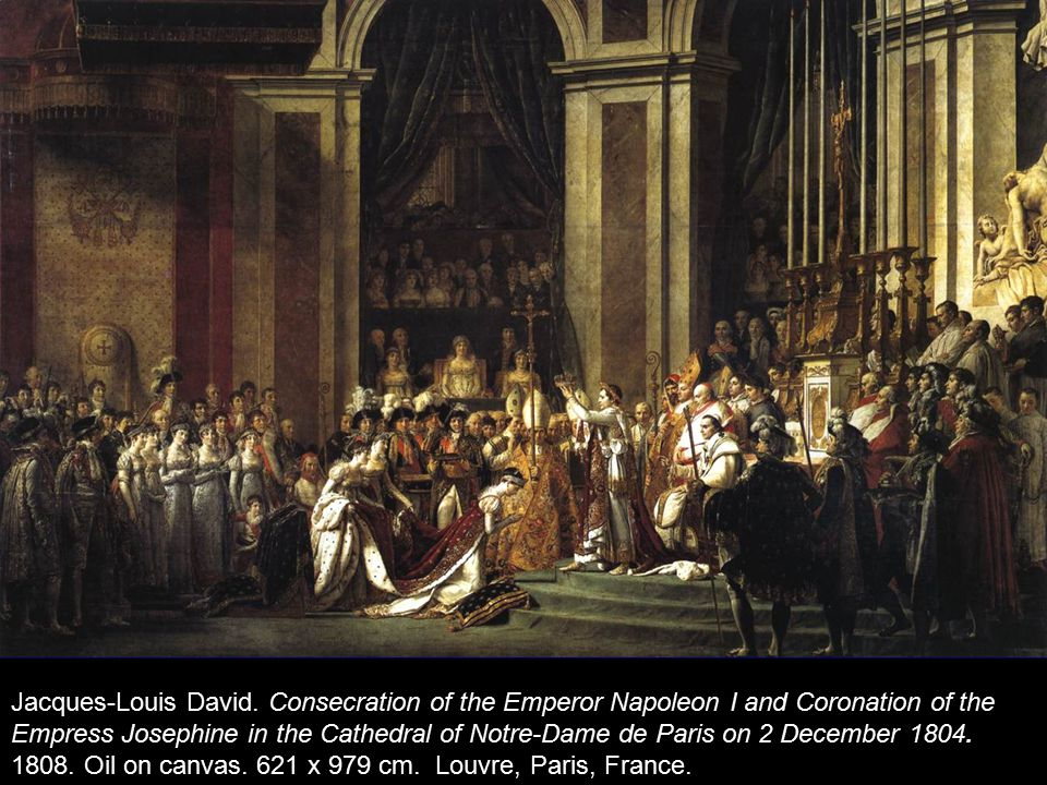 Jacques-Louis David. Consecration of the Emperor Napoleon I and Coronation of the Empress Josephine in the Cathedral of Notre-Dame de Paris on 2 Decem