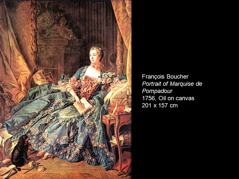 François Boucher Portrait of Marquise de Pompadour 1756, Oil on canvas 201 x 157 cm
