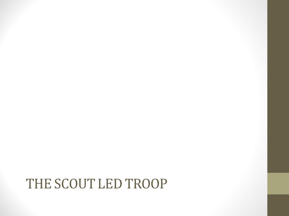 THE SCOUT LED TROOP