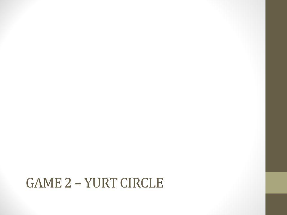 GAME 2 – YURT CIRCLE