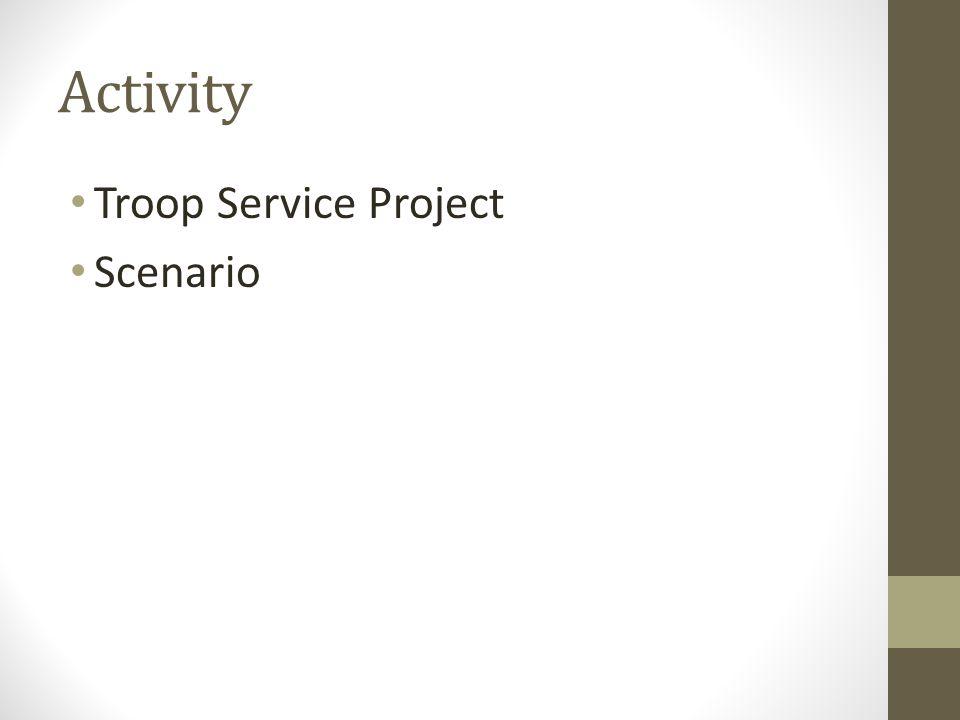 Activity Troop Service Project Scenario