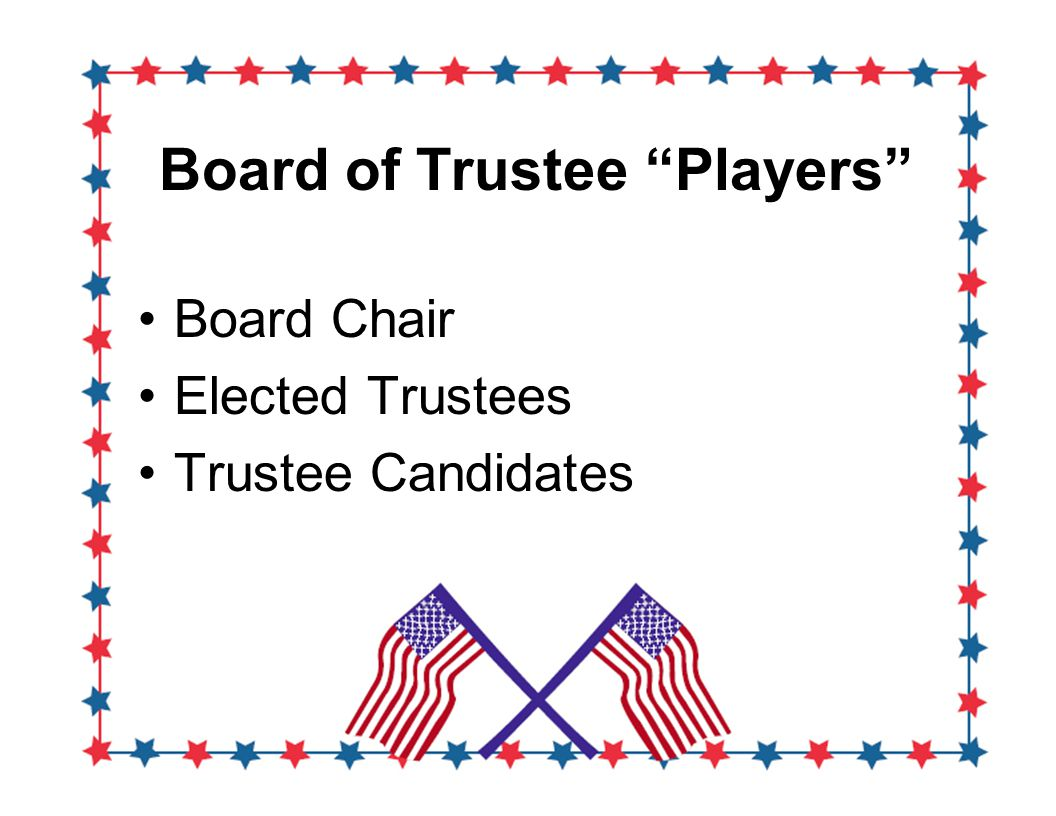 Board of Trustee Players Board Chair Elected Trustees Trustee Candidates