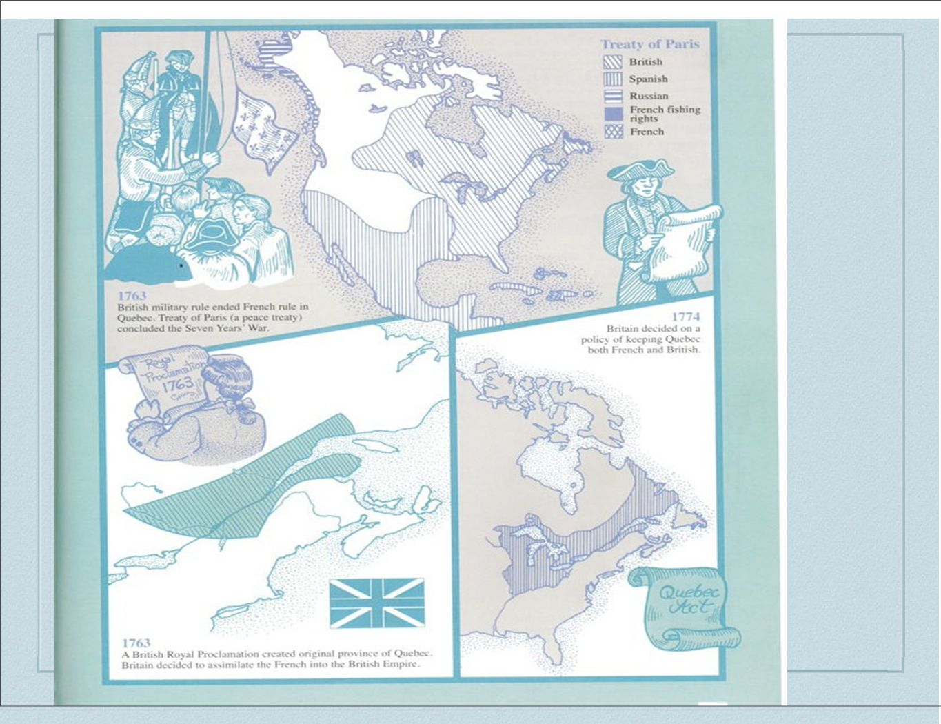 Overview ❖ 1713 - British vs.French War in Europe and North America ends.