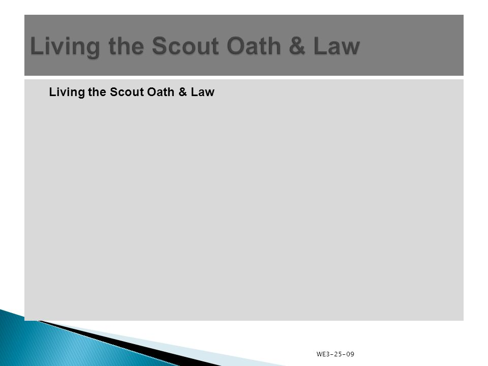 Living the Scout Oath & Law WE