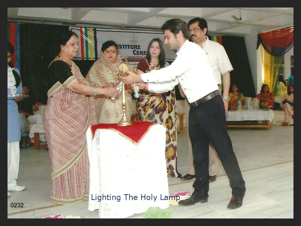Lighting The Holy Lamp