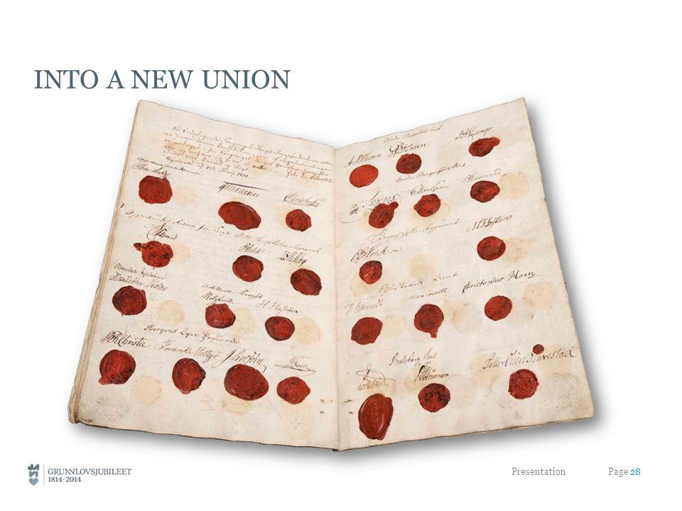INTO A NEW UNION Presentation Page 28
