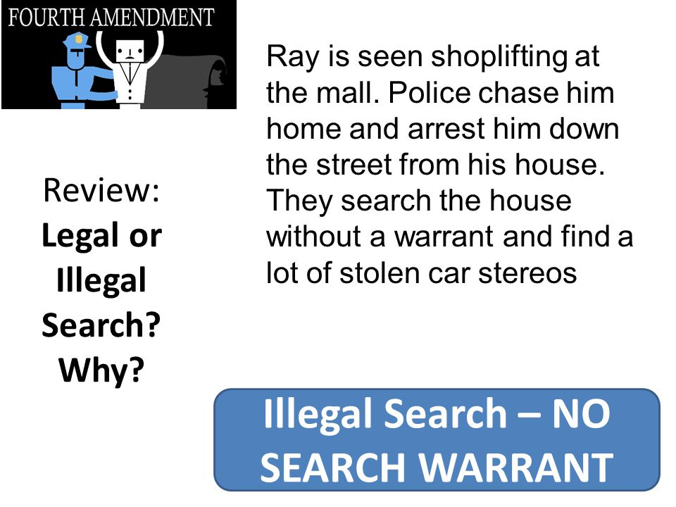 Review: Legal or Illegal Search.Why.