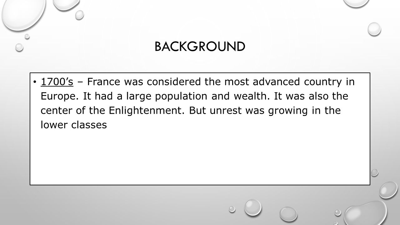 CLASS Estates – or social classes.France was divided into three large estates.