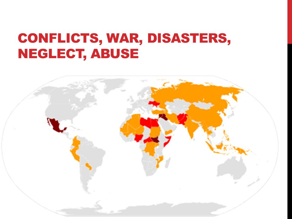 CONFLICTS, WAR, DISASTERS, NEGLECT, ABUSE