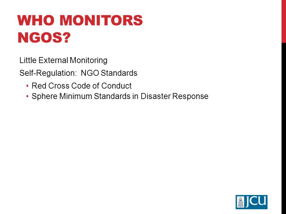 WHO MONITORS NGOS.