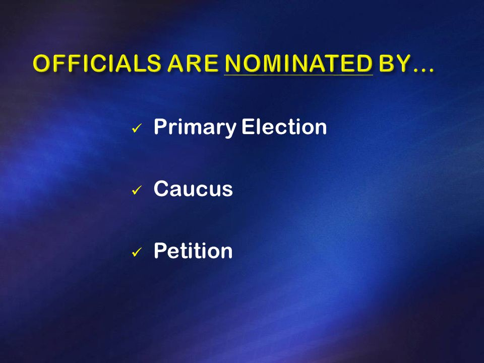 Primary Election Caucus Petition