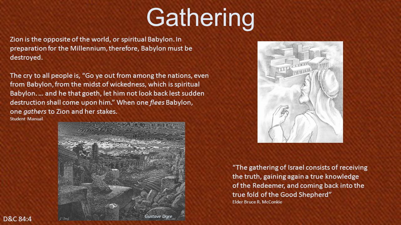Zion is the opposite of the world, or spiritual Babylon.