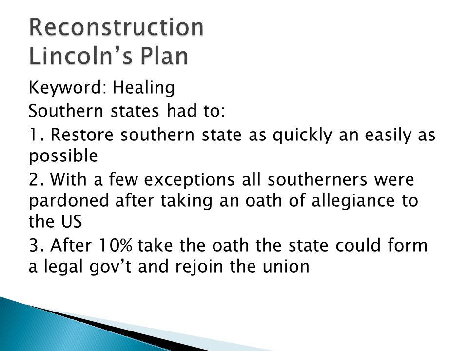 Keyword: Healing Southern states had to: 1.
