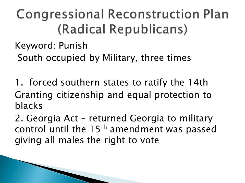 Keyword: Punish South occupied by Military, three times 1.