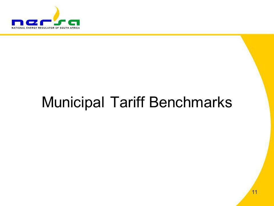 Municipal Tariff Benchmarks 11