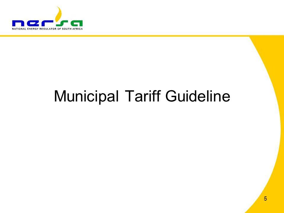 Municipal Tariff Guideline 5