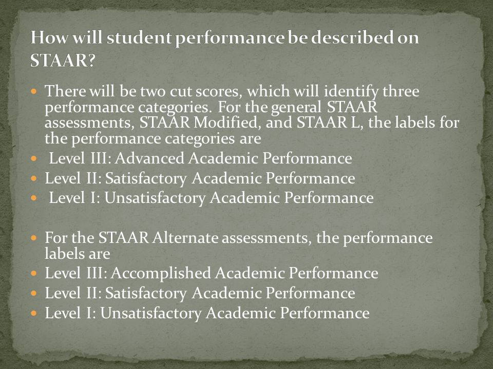 In reading assessments for STAAR, greater emphasis will be given to critical analysis rather than literal understanding. The test designs for English