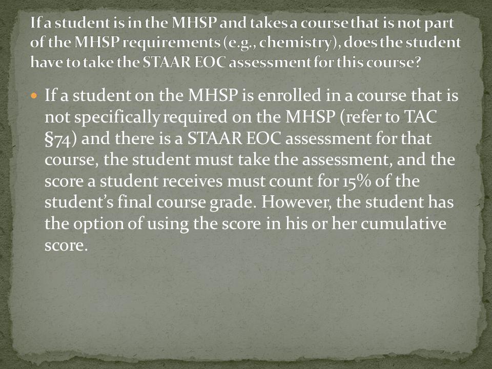 Students graduating under the Distinguished Achievement Program (DAP) must take all twelve EOC assessments and meet the cumulative score requirement i
