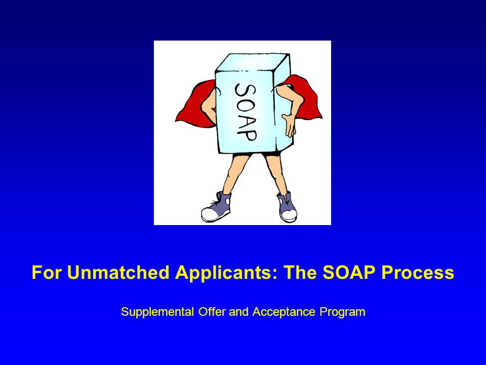 For Unmatched Applicants: The SOAP Process Supplemental Offer and Acceptance Program
