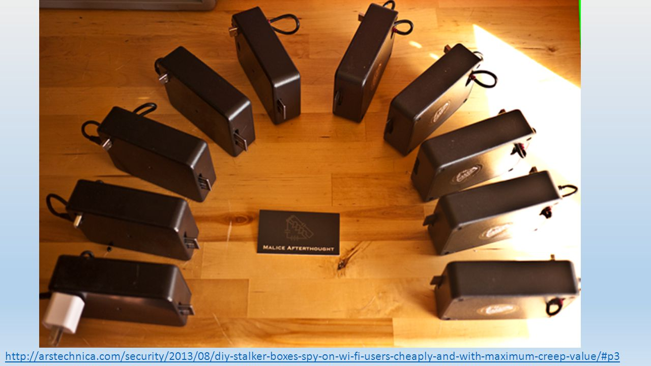 http://arstechnica.com/security/2013/08/diy-stalker-boxes-spy-on-wi-fi-users-cheaply-and-with-maximum-creep-value/#p3