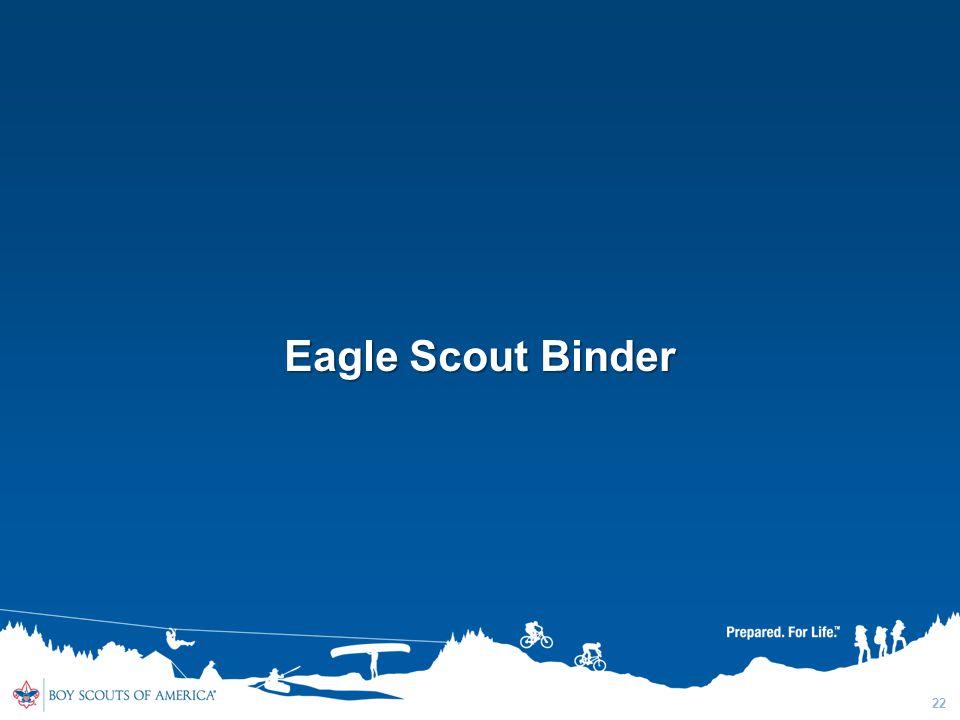 22 Eagle Scout Binder
