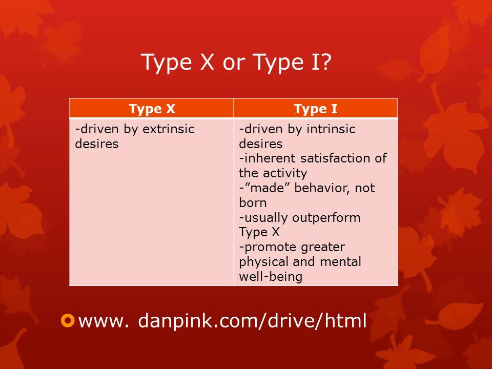 Type X or Type I.  www.