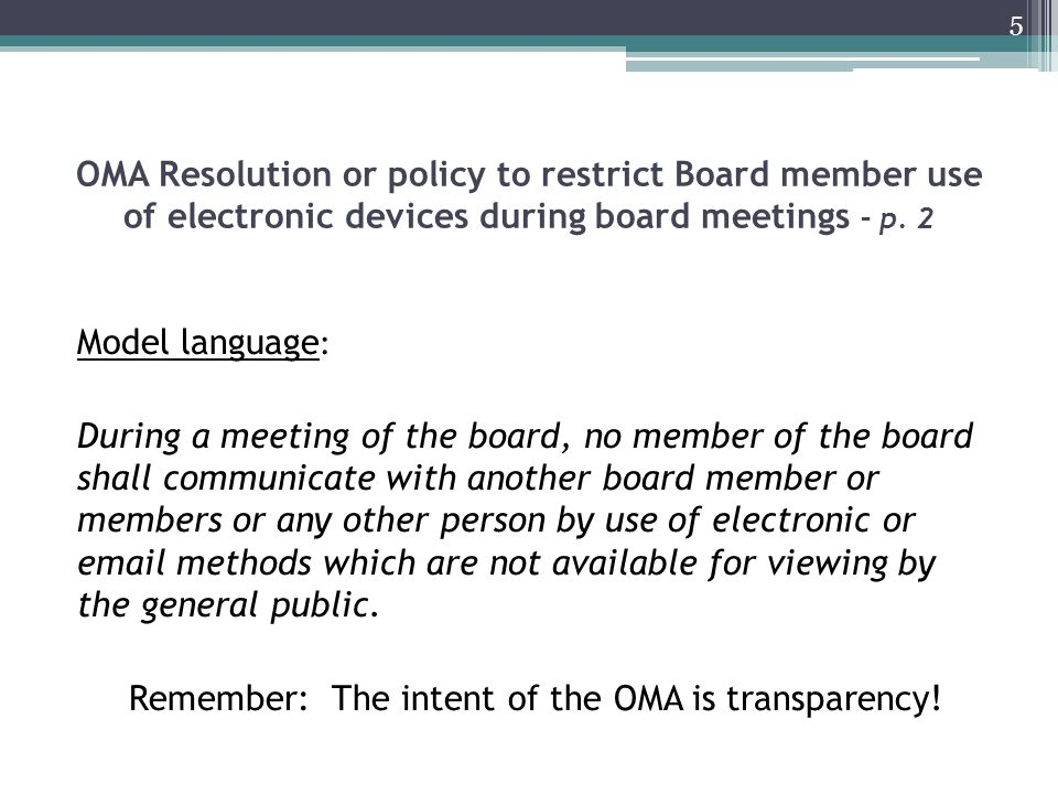 Board member use of personal email for board business – p.