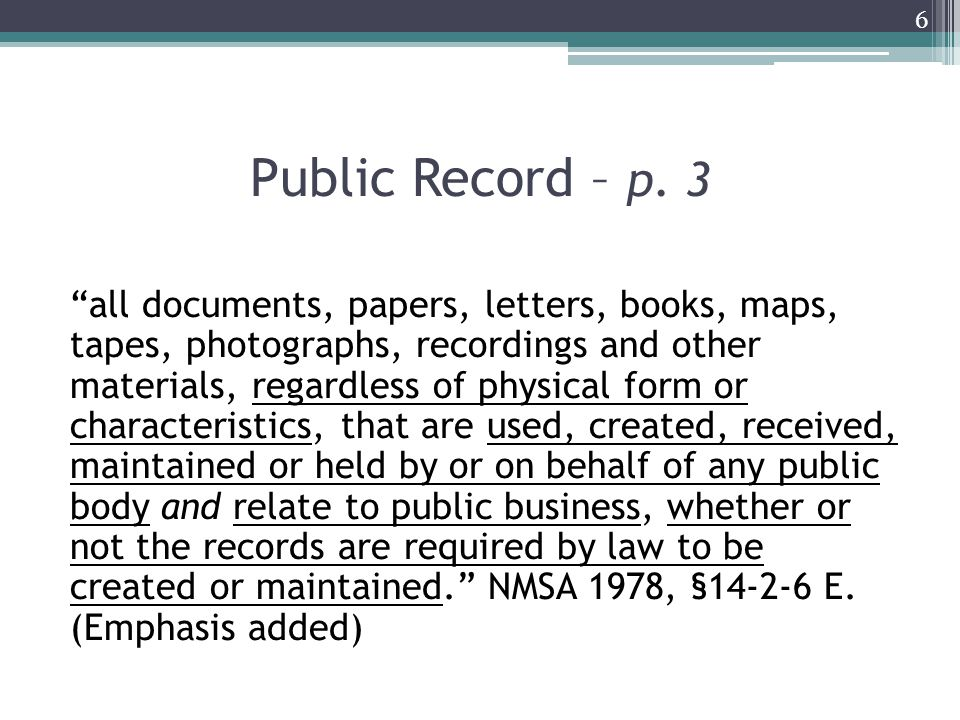 Public Record: Let's break it down...