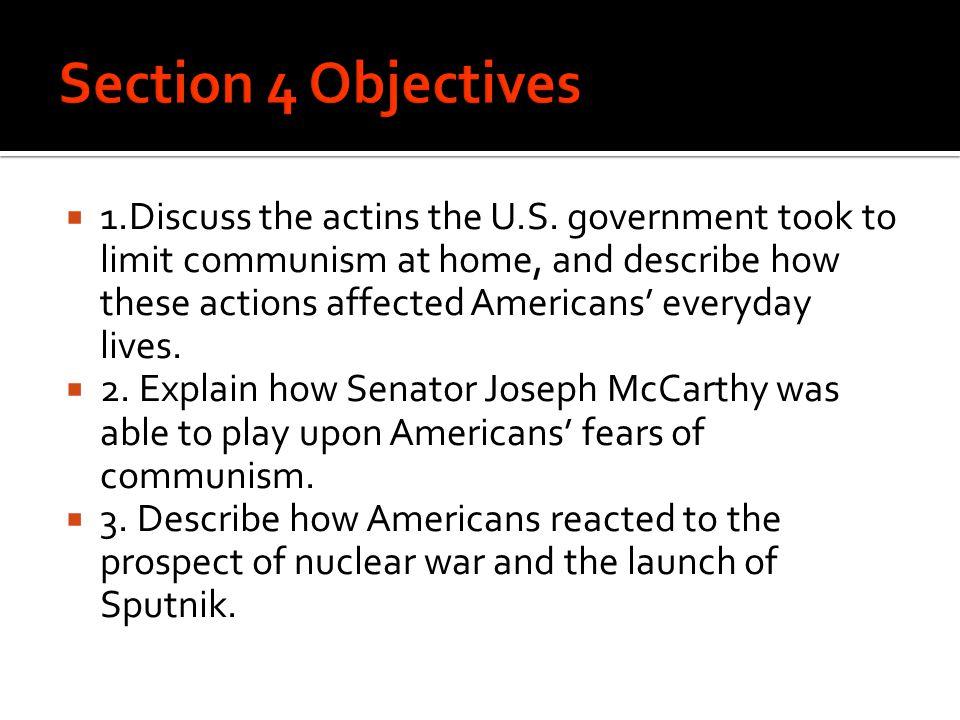  1.Discuss the actins the U.S.