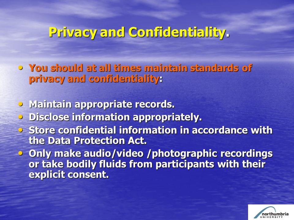 Privacy and Confidentiality. Privacy and Confidentiality.