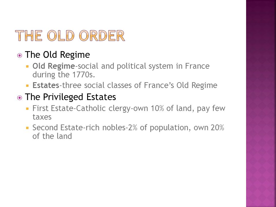 Factions Split France  Major problems including debt, food shortages remain  Assembly split into Radicals, Moderates, Conservatives  Emigres-nobles who flee country, want Old Regime back in power  Sans-culottes-lower class who want more change from the Revolution  Sans-Culottes