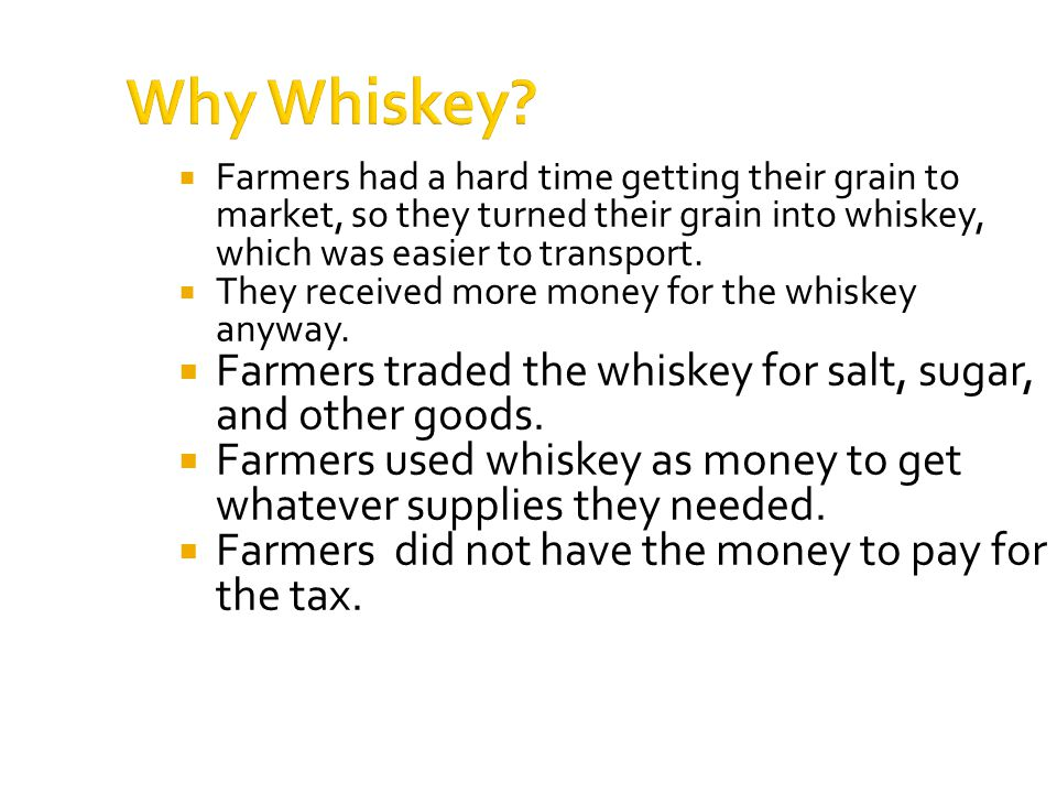 Why Whiskey.