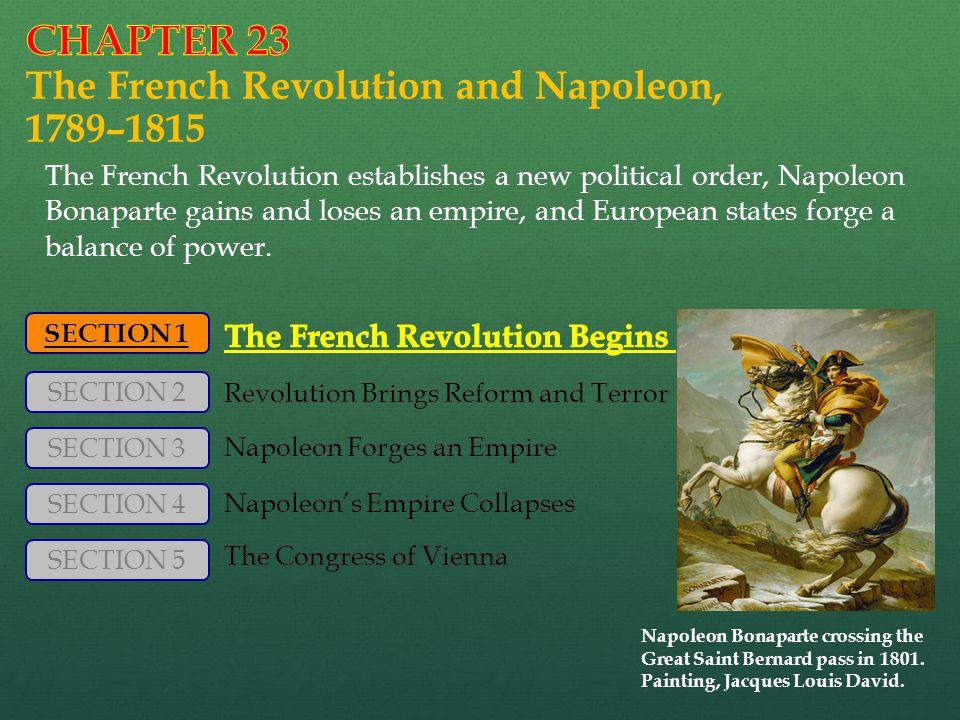 Napoleon Bonaparte crossing the Great Saint Bernard pass in 1801.