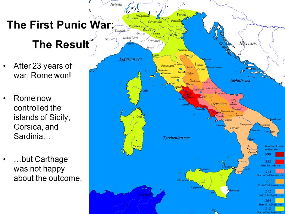 After 23 years of war, Rome won.