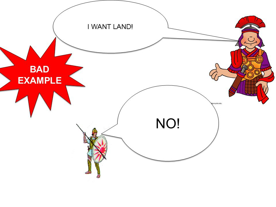 I WANT LAND! NO! BAD EXAMPLE