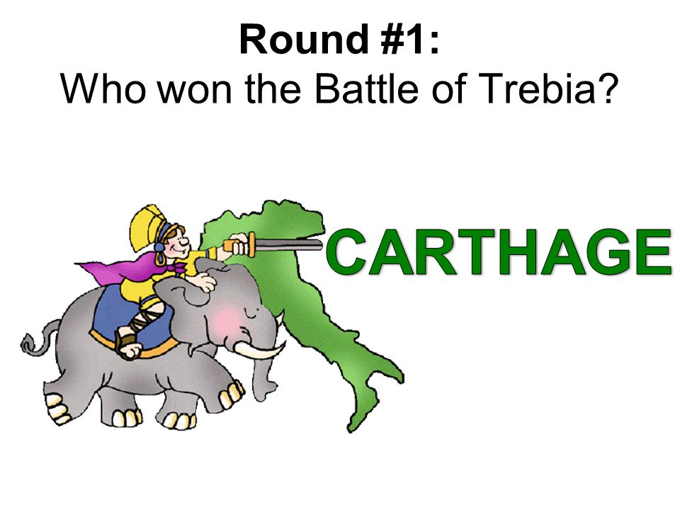 Round #1: Who won the Battle of Trebia?