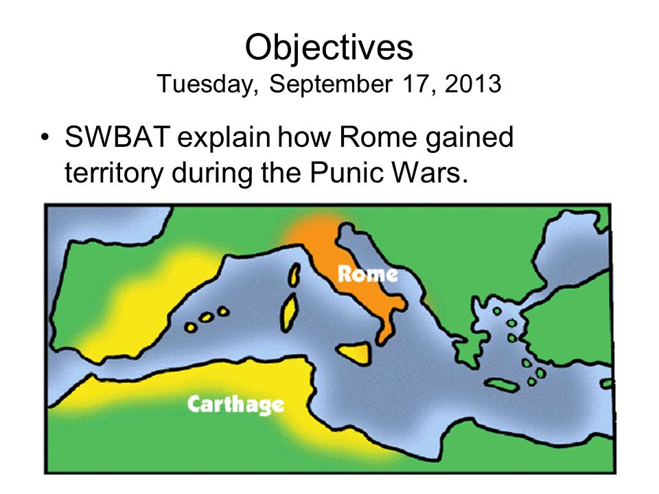 The First Punic War: Rome vs.Carthage In 264 BC, a war broke out between Rome and Carthage.