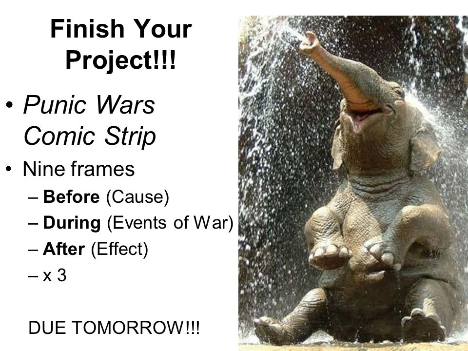 Finish Your Project!!.