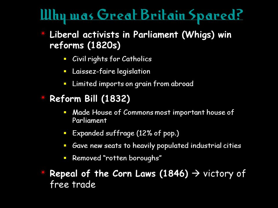 Why was Great Britain Spared.