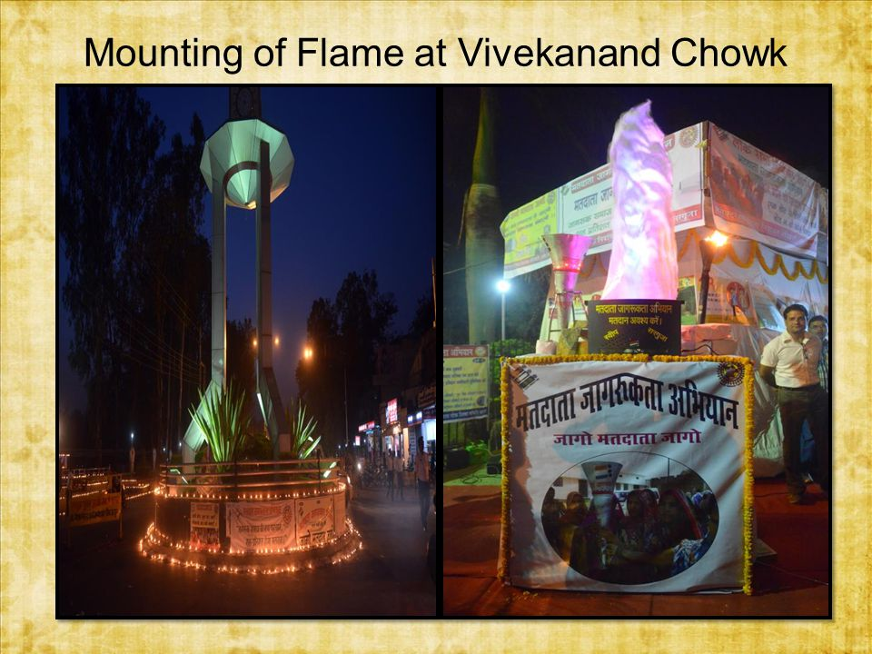 Mounting of Flame at Vivekanand Chowk