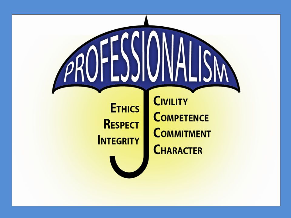 The Standing Committee's Working Definition of Professionalism Professionalism is the pursuit and practice of the highest ideals and tenets of the legal profession.