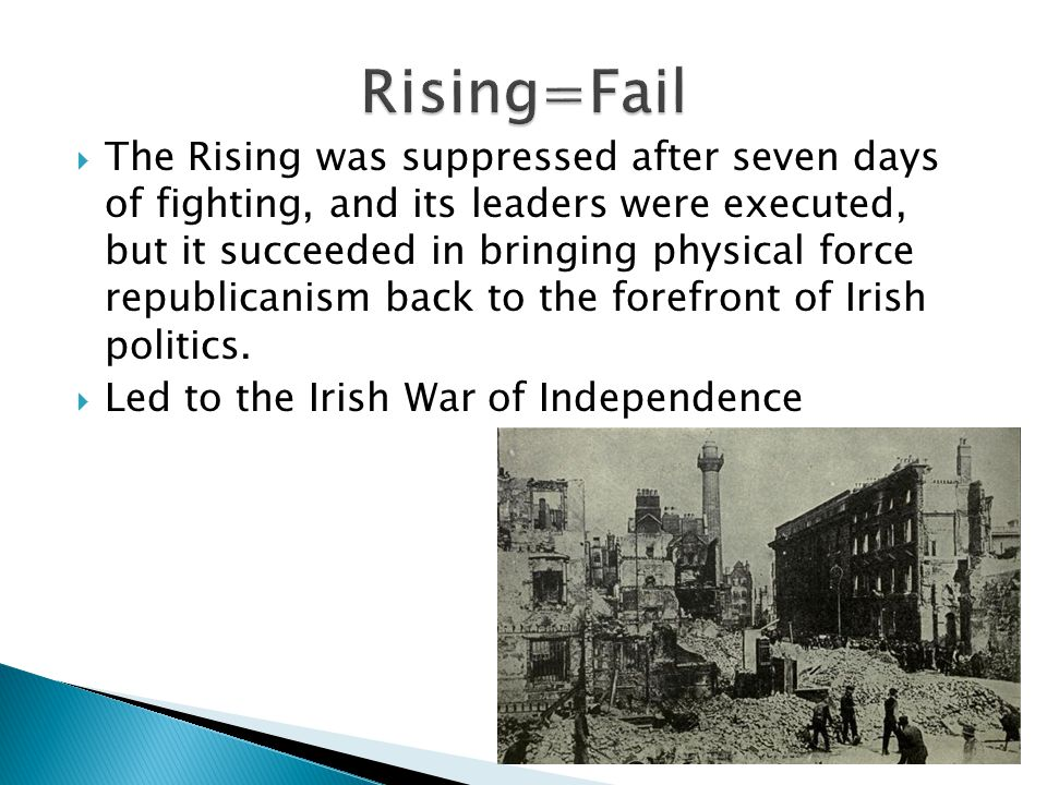  The Leaders of the 1916 Easter Rising were buried in the old prison yard of Arbour Hill prison.