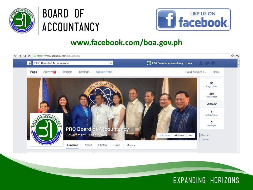 www.facebook.com/boa.gov.ph