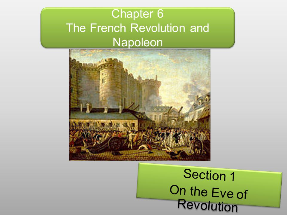 Chapter 6 The French Revolution and Napoleon Section 1 On the Eve of Revolution Section 1 On the Eve of Revolution
