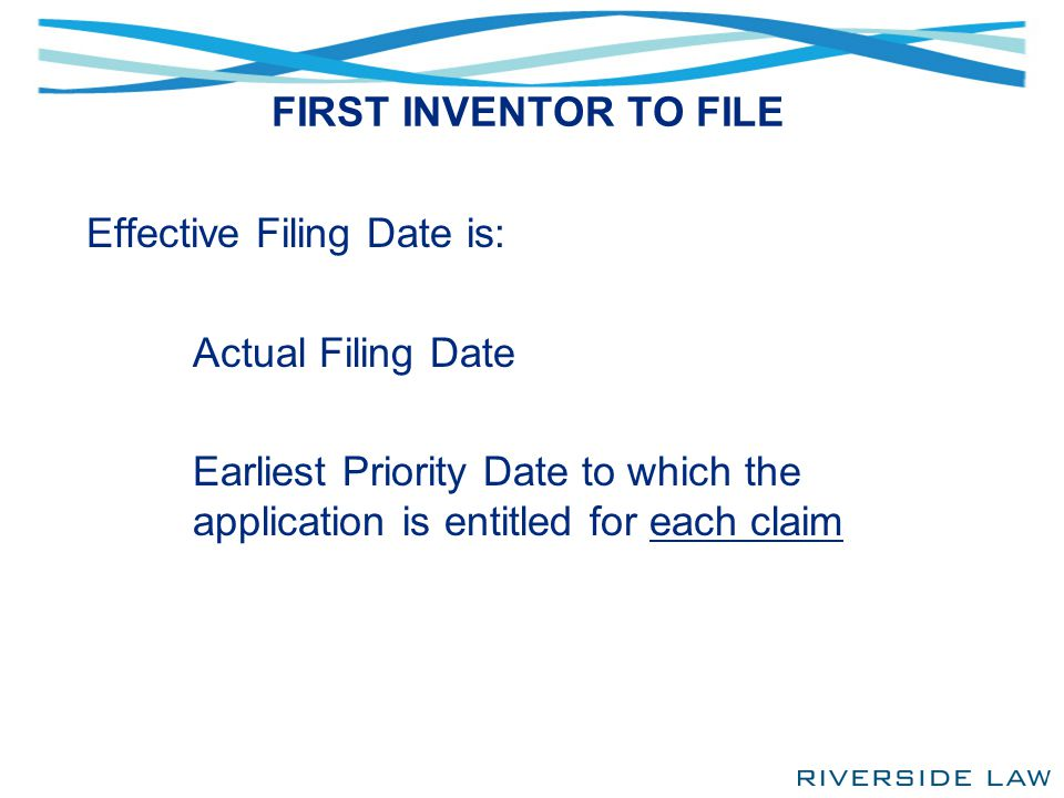 INVENTOR OATH OR DECLARATION Filed before/on/after September 26, 2012 The normal oath or declaration is largely unchanged But, it is now easier to step into the shoes of the inventor, should the inventor be unable or unwilling to execute the oath Assignee can be a non-inventor applicant, provided the inventor was or is under an obligation to assign the invention
