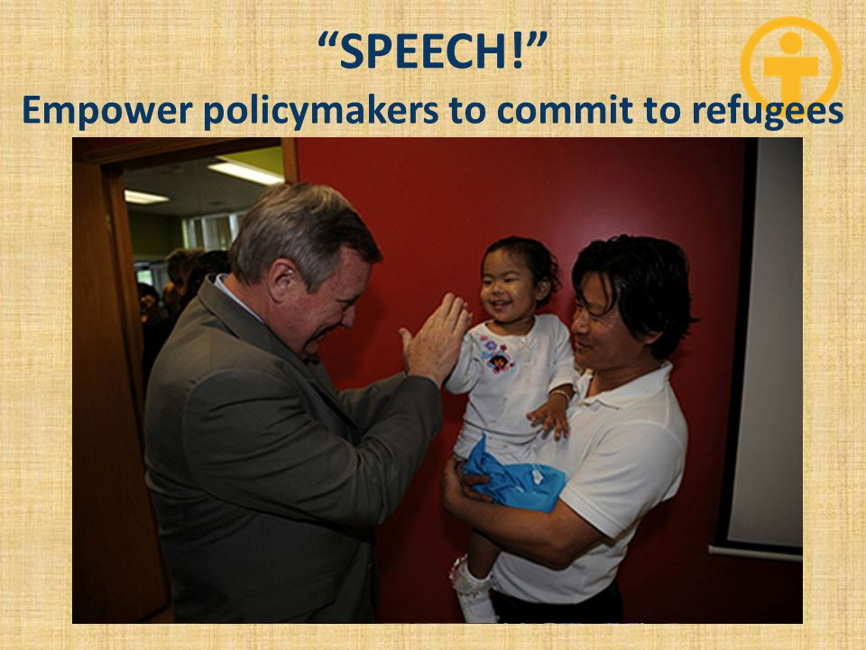 """SPEECH!"" Empower policymakers to commit to refugees"