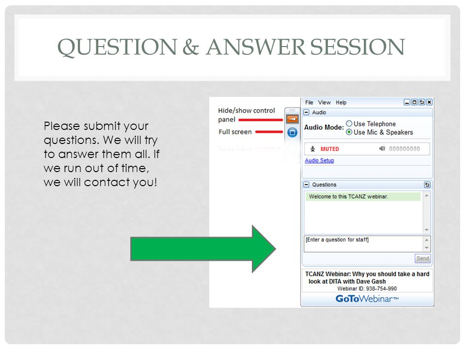 QUESTION & ANSWER SESSION Please submit your questions.