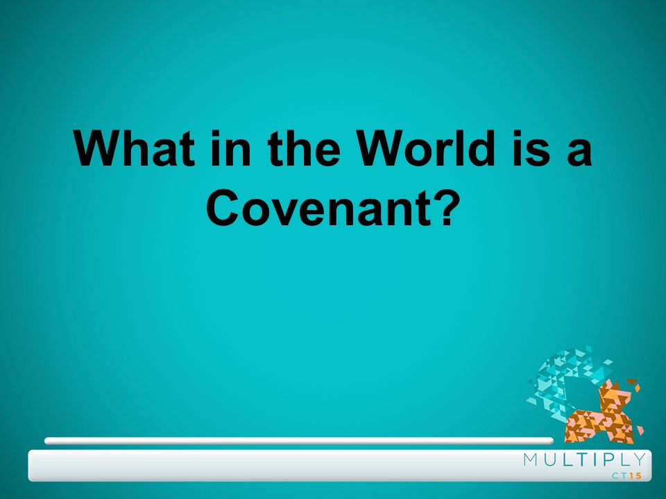 What in the World is a Covenant