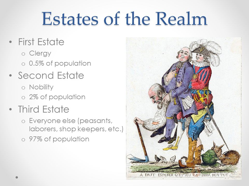 Leading to Revolution Third Estate o Heavily taxed (only estate that was taxed) o Politically under-represented o The poorest were devastated by food shortages The Third Estate's growing discontent with the lavish lifestyle of aristocracy, despite France's economic turmoil.