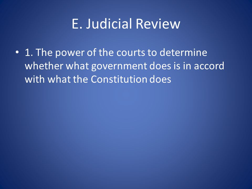 F.Federalism 1. Division of power among a central government and several regional governments 2.